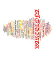 barcelona spain text background word cloud concept vector image vector image