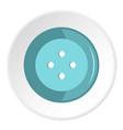 blue clothing button icon circle vector image vector image