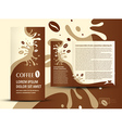 brochure folder coffee beans element design vector image vector image