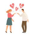 broken hearts divorce concept vector image vector image