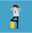 businessman or manager with gold coins vector image vector image