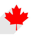 canadian flag the maple leaf symbol with long vector image