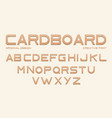 cardboard font alphabet from brown craft paper vector image vector image