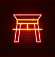 chinese arc neon sign vector image