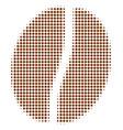 coffee bean halftone icon vector image vector image