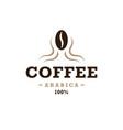coffee logo vintage design concept bean