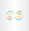 colorful infinity logo sign design element vector image