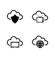 computer cloud simple related icons vector image