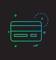 credit card icon design vector image
