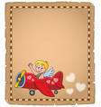 cupid topic parchment 7 vector image