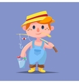 Cute catroon Boy fishing vector image vector image