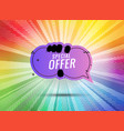 discount banner shape special offer badge sale vector image vector image