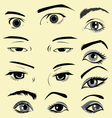 eyes in comics vector image vector image