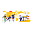 friends characters meeting in cafe or bar company vector image vector image