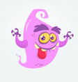 funny cartoon ghost showing tongue vector image vector image