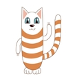 funny cute striped cat vector image