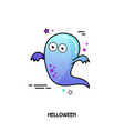 ghost icon halloween sticker vector image vector image
