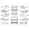 glasses silhouettes modern eyeglasses fashion vector image