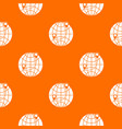 globe pattern seamless vector image vector image