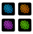 glowing neon wrench and gear icon isolated on vector image vector image