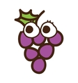 grapes character isolated icon design vector image