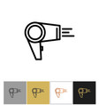 hair dryer blowdryer icon hotel air blowing vector image vector image