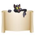 halloween cat banner vector image vector image