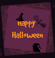 Halloween poster bright banner greeting card in vector image