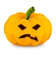 Halloween pumpkin Angry Jack-O-Lantern on a white vector image vector image