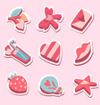 happy valentines day pack love stickers vector image