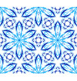 kaleidoscopic pattern light blue flower vector image vector image