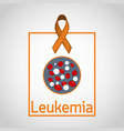 leukemia icon vector image vector image