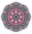 mandala oriental ornament relaxing doodle round vector image vector image