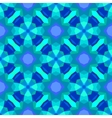 Multicolor geometric pattern in bright blue vector image vector image