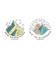 new adventure logo design set into wilderness vector image vector image