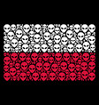 poland flag mosaic of alien face icons vector image