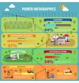 Power Infographic Set vector image vector image