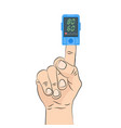 pulse oximeter icon pulse measurement determining vector image vector image