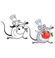 rat cook vector image vector image