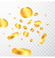 realistic gold coins explosion isolated on vector image vector image
