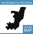 republic congo map with title vector image
