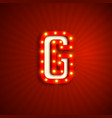 retro style letter g vector image vector image