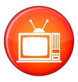 Retro TV icon flat style vector image vector image