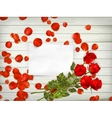 Roses over wooden table EPS 10 vector image vector image
