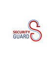 s letter icon for security standard vector image