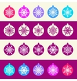 seamless pattern from set christmas balls vector image vector image