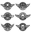 set biker club emblems templates emblems vector image vector image