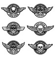 set of biker club emblems templates emblems with vector image vector image