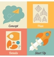 Set of start up icons for new business ideas vector image vector image
