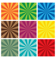 set of Sun Sunburst retro Pattern vector image vector image